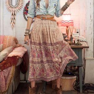 Spell Desert Rose Maxi Skirt in Blush